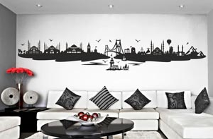 Tugra duvar stickeri, wandtattoo, wall sticker