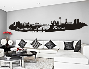 Tuğra duvar stickeri, wandtattoo, wall sticker, skyline, Aufkleber