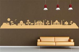 ORIENT SKYLINE 1 Tuğra duvar stickeri, wandtattoo, wall sticker, Aufkleber, skyline